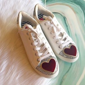 Betsey Johnson Glitter Heart Sneakers